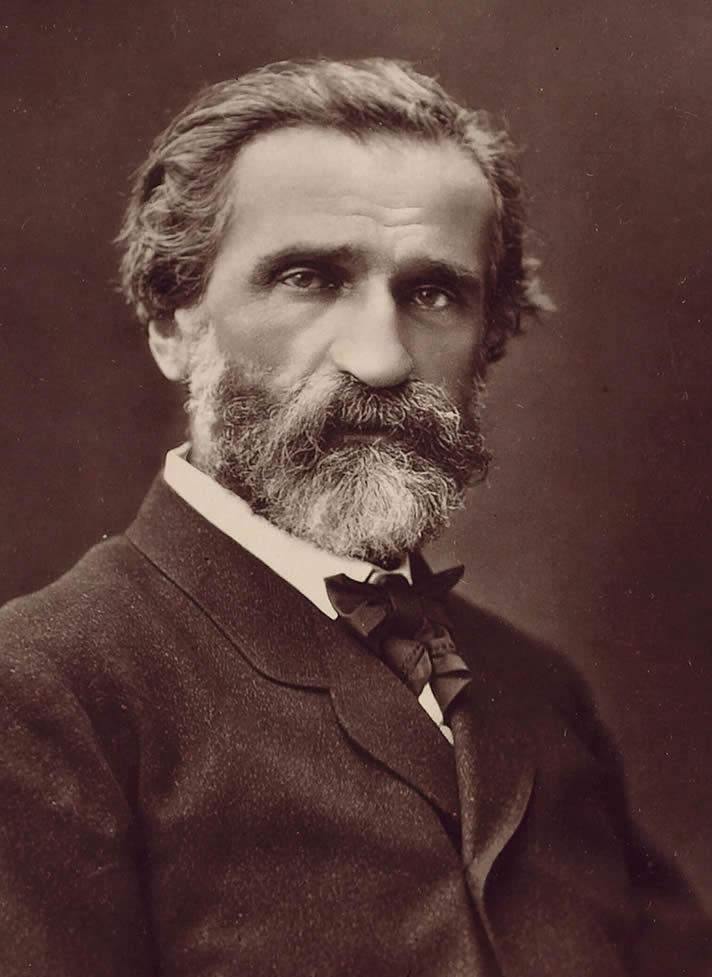 Portrait of Giuseppe Verdi, photographed by Ferdinand Mulnier, c. 1870.