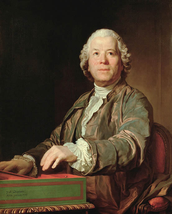 Portrait of Christoph Willibald von Gluck, painted by Joseph-Siffrein Duplessis in 1775, in the Kunsthistorisches Museum, Vienna, Austria.