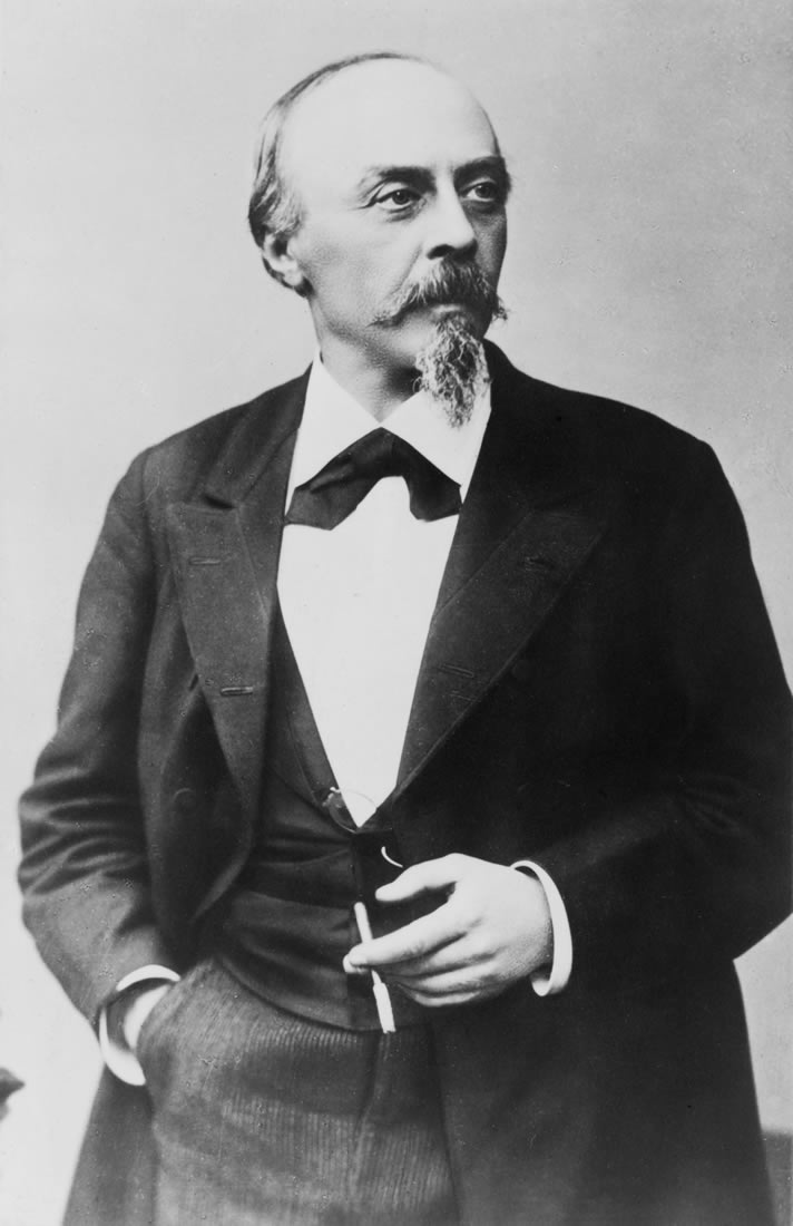 Portrait of Hans von Bülow, c.1880, photographed by Emilie Bieber.