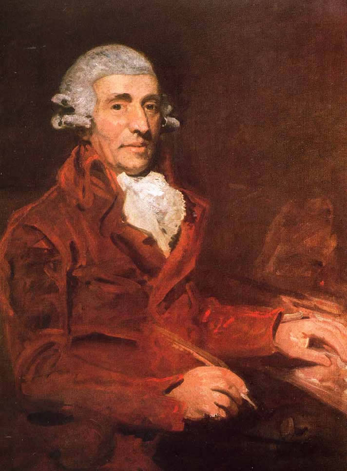 Portrait of Franz Joseph Haydn, painted by John Hoppner in 1791, in the Royal Collection of the United Kingdom, United Kingdom.