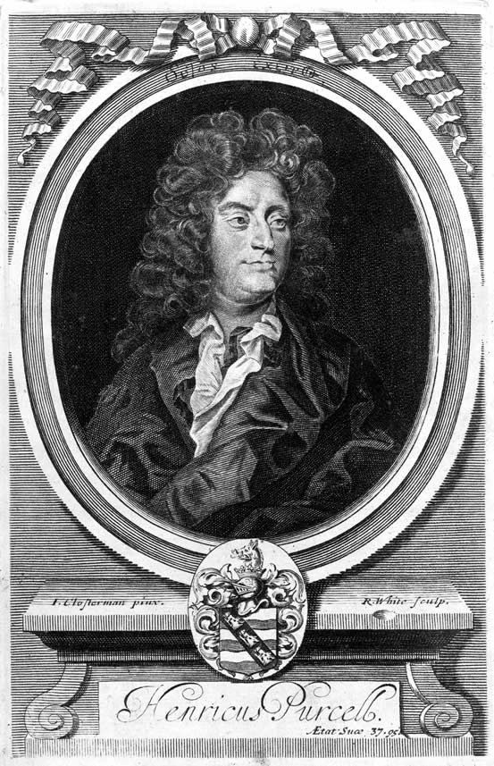 Portrait of Henry Purcell, 1706, by Robert White, in the Orpheus Britannicus.