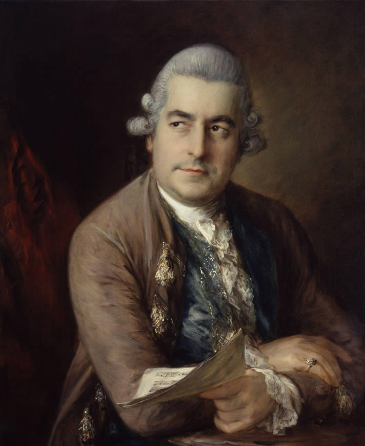 Portrait of Johann Christian Bach, painted by Thomas Gainsborough in 1776, in the National Portrait Gallery, London.