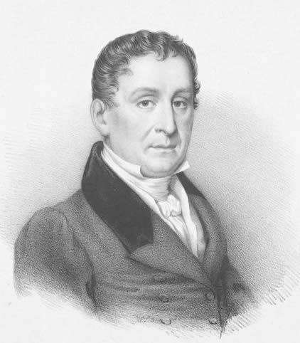 Portrait of Johann Baptist Cramer, by William Sharp in the 19th Century.