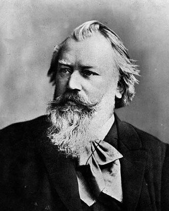 Portrait of Johannes Brahms, c. 1889, photographed by C. Brasch.