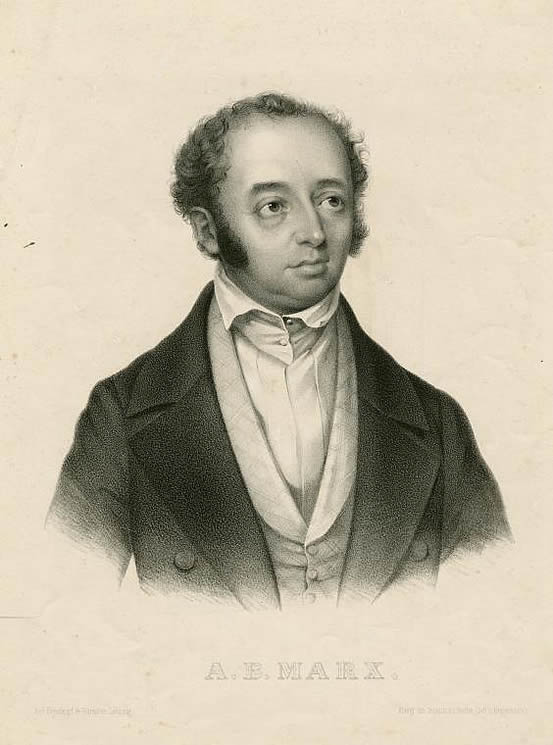 Lithograph of Adolf Bernhard Marx, produced in the 19th century.