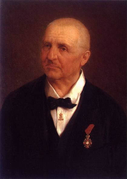 Portrait of Anton Bruckner painted by Josef Büche.