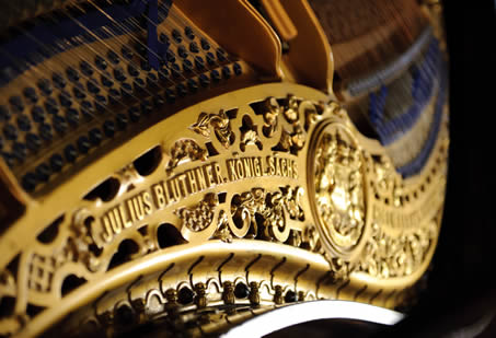 Detail of a Blüthner Piano, photographed by Mark Dommisse in 2013.
