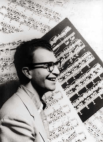 Portrait of Dave Brubeck, photographed by Carl Van Vechten, in 1954.