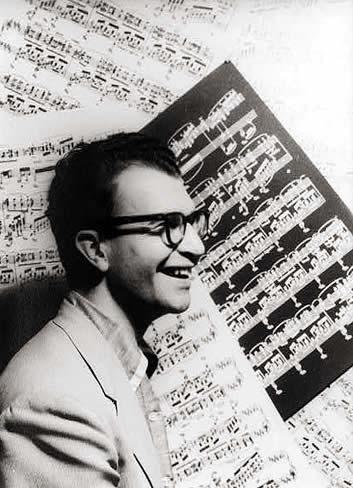 Portrait of Dave Brubeck, photographed by Carl Van Vechten, in 1954.