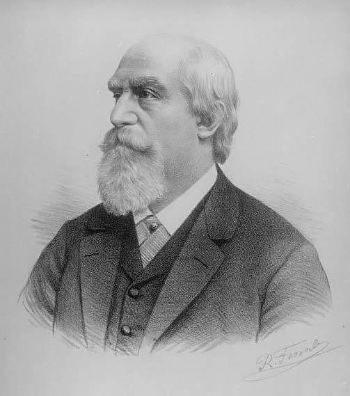 Lithograph portrait of Eduard Hanslick by Rudolf Krziwanek.