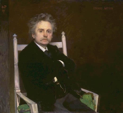 Portrait of Edvard Greig, painted by Eilif Peterssen in 1891.