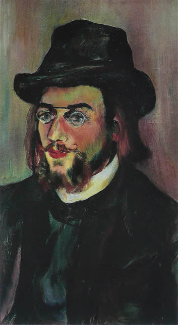 Portrait of Erik Satie, painted by Suzanne Valadon in 1893, in the Musée National d'Art Moderne, Paris, France.