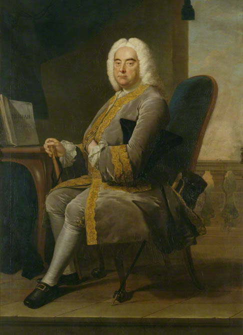 Portrait of Georg Friedrich Händel in 1756, by Thomas Hudson in the National Portrait Gallery, London.