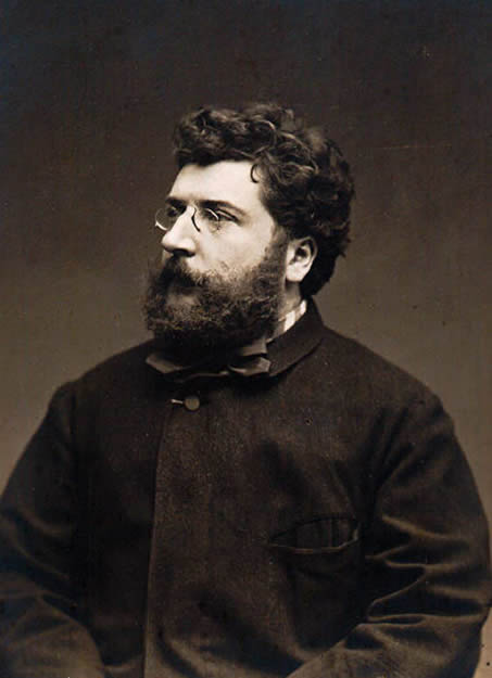 Portrait of Georges Bizet, photographed by Étienne Carjat, in 1875.