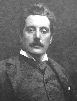 Portrait of Giacomo Puccini.