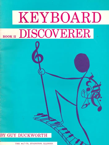 Book cover of Guy Duckworth's 'Keyboard Discoverer Book II' from 1963.