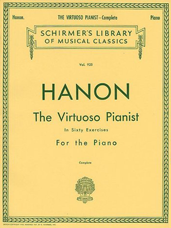 Cover of Charles-Louis Hanon's book 'The Virtuoso Pianist, in Sixty Exercises, for the Piano.'