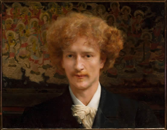 Portrait of Ignacy Jan Paderewski, painted by Sir Lawrence Alma-Tadema in 1890, in the National Museum, Warsaw, Poland.
