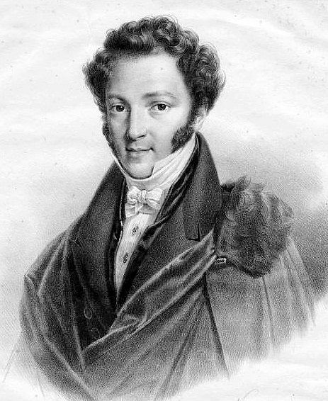 Portrait of Ignaz Moscheles by Godefroy Engelmann and Pierre Roch Vigneron, c. 1820 – 1840.