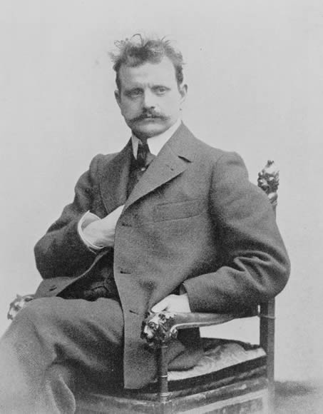 Portrait of Jean Sibelius, c. 1890.
