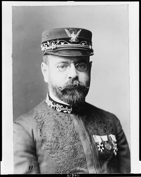 Portrait of John Philip Sousa in 1900.