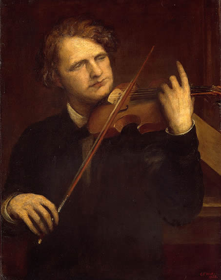 Portrait of Joseph Joachim, painted by George Frederick Watts in 1868, in the Art Institute of Chicago, Chicago, Illinois.