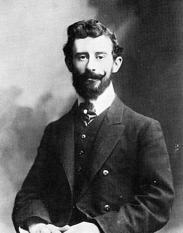 Portrait of Maurice Ravel, photographed by Pierre Petit, in 1907.