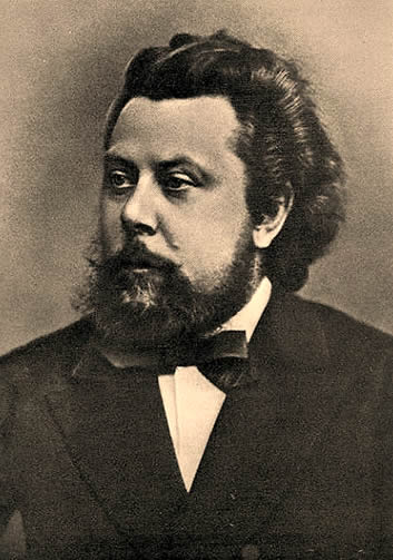 Portrait of Modest Mussorgsky in 1870.