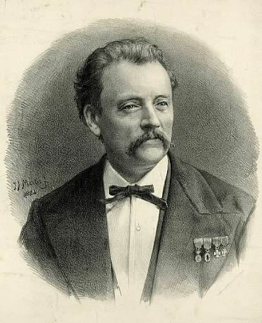 Portrait of Richard Hol, photographed by Johannes Jacobus Mesker, in 1884.
