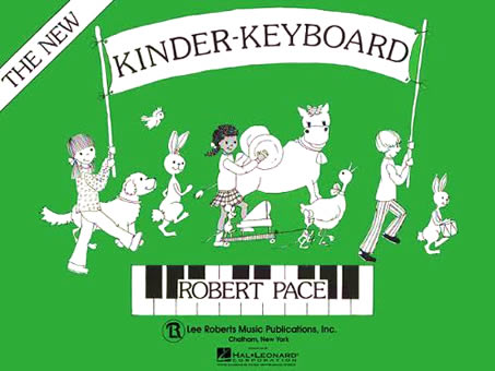 Book cover from Robert Pace's 'The New Kinder-Keyboard' from 1988.