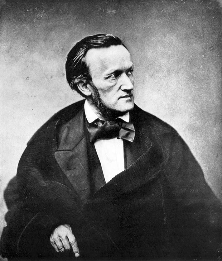 Portrait of Richard Wagner, photographed by Pierre Petit, in 1861.